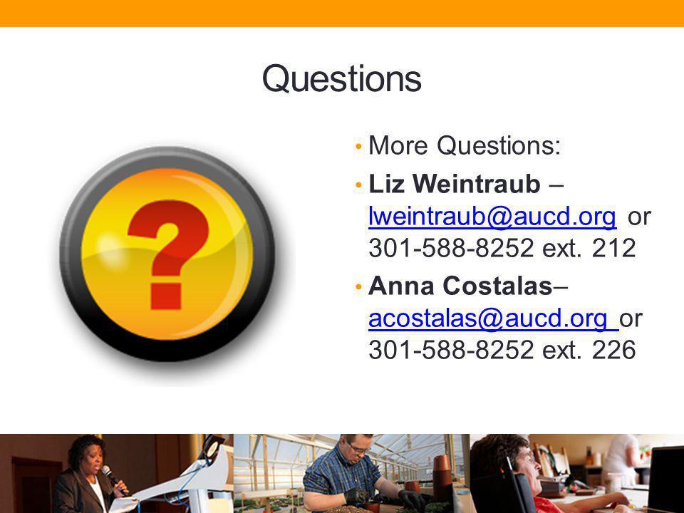 Questions More Questions: