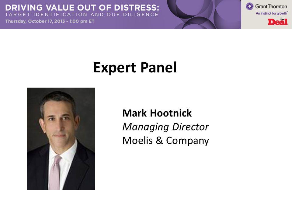 Expert Panel Mark Hootnick Managing Director Moelis & Company