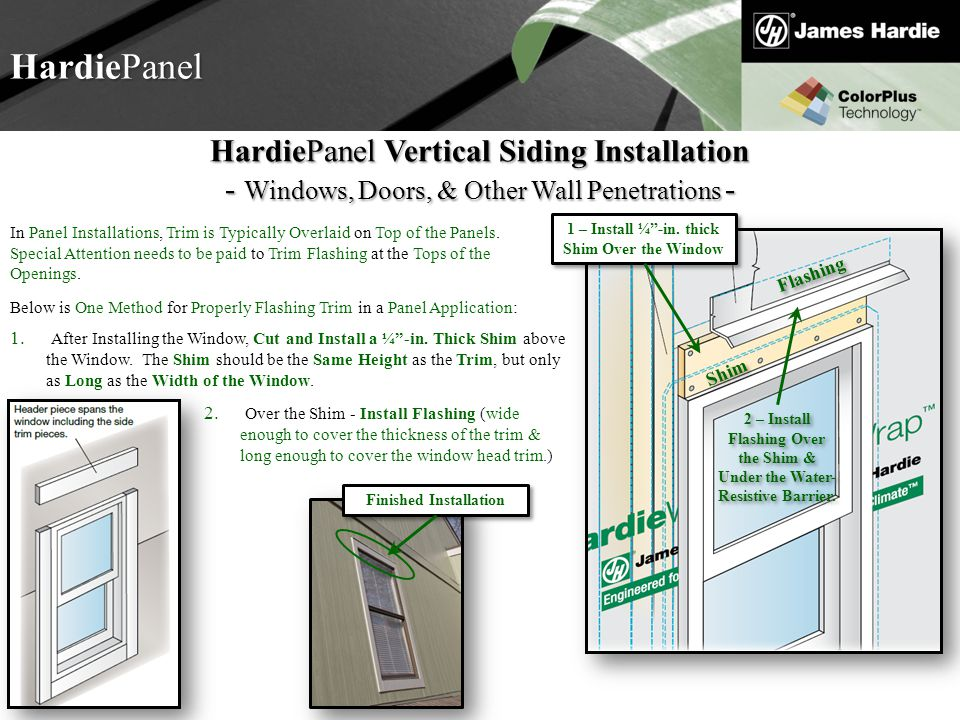 1 – Install ¼ -in. thick Shim Over the Window Finished Installation