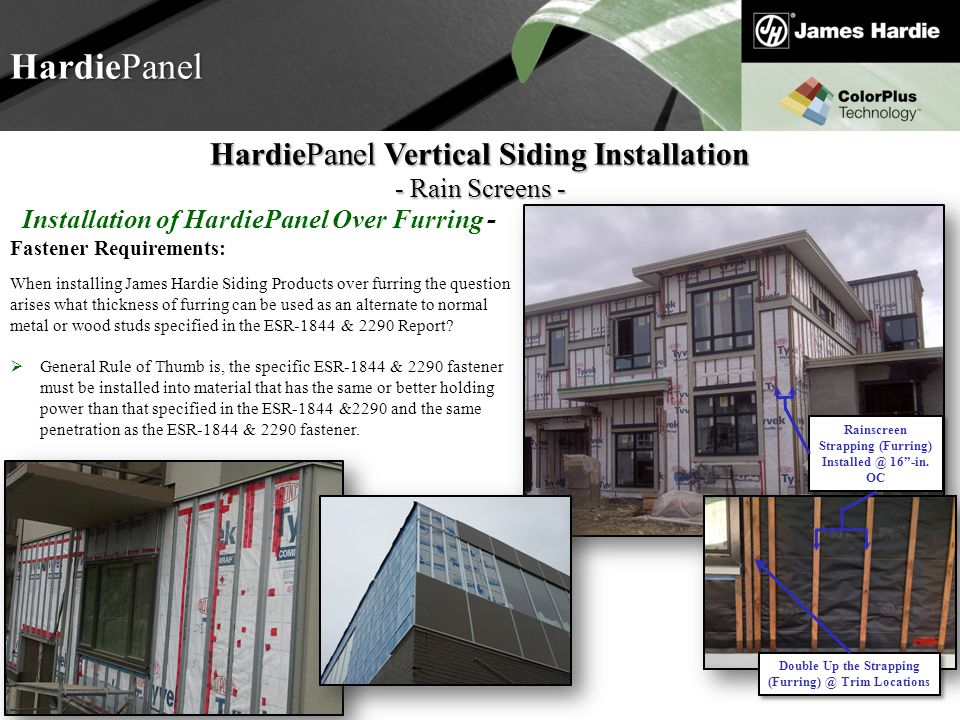 HardiePanel HardiePanel Vertical Siding Installation - Rain Screens -