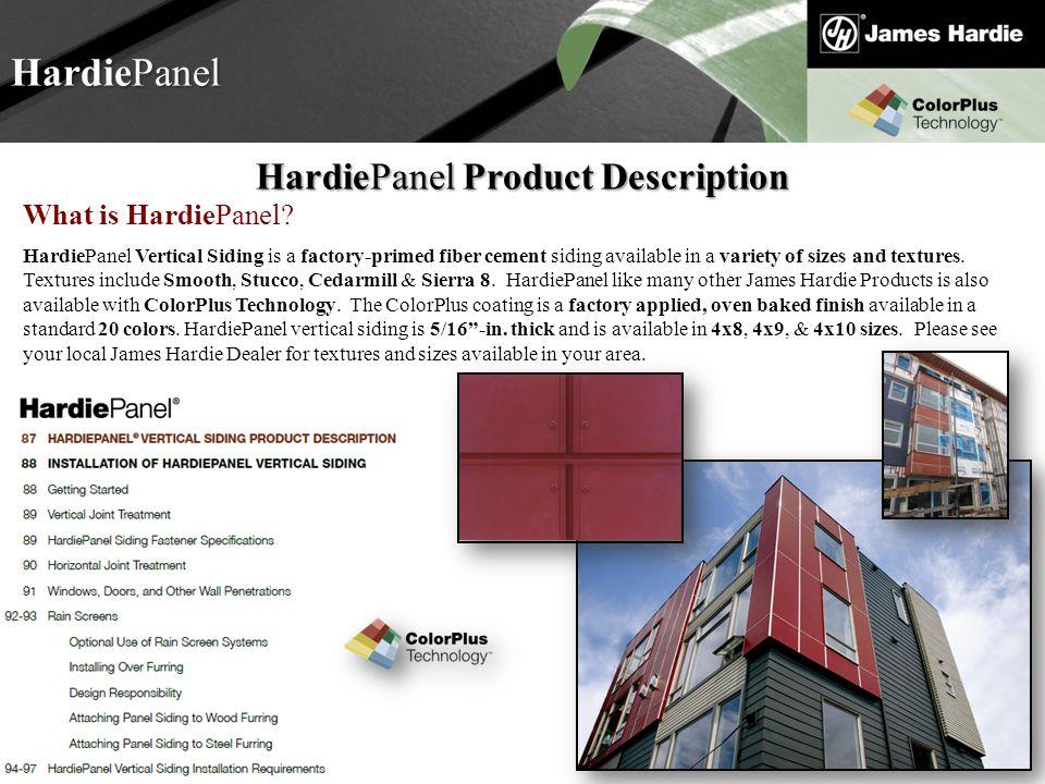 HardiePanel Product Description