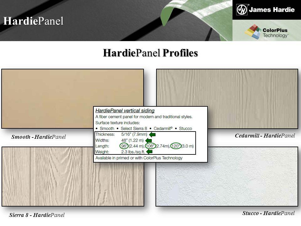 HardiePanel HardiePanel Profiles Cedarmill - HardiePanel