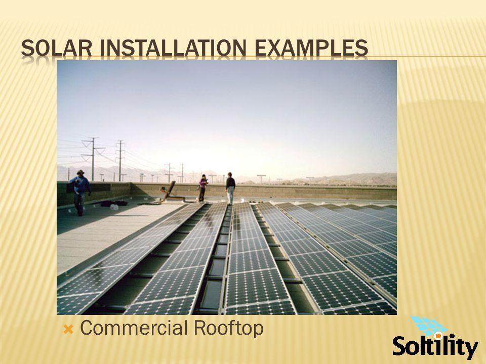 Solar installation examples