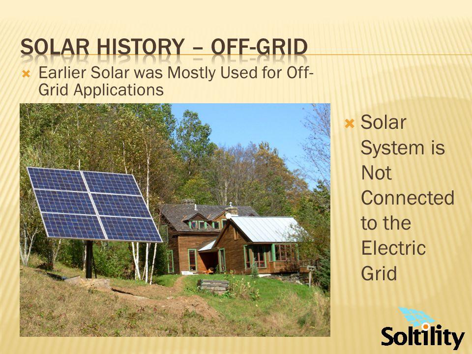 Solar History – On-grid