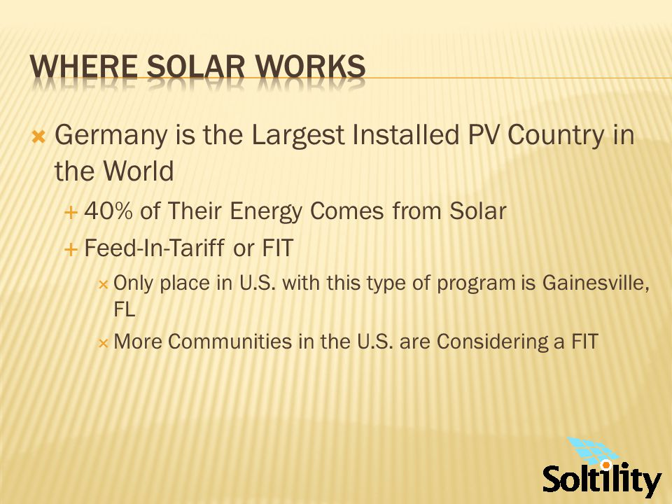 Where Solar Works Solar Tour - Florida Tampa Bay Area