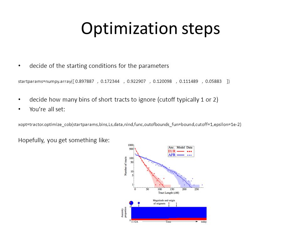 Optimization steps decide of the starting conditions for the parameters.