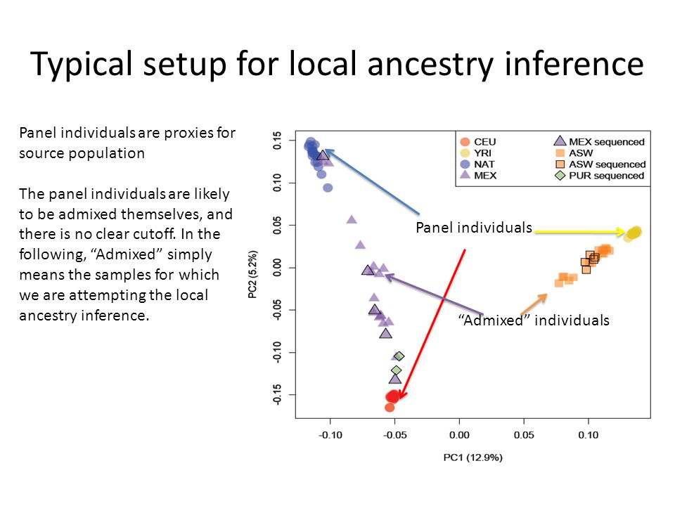Typical setup for local ancestry inference