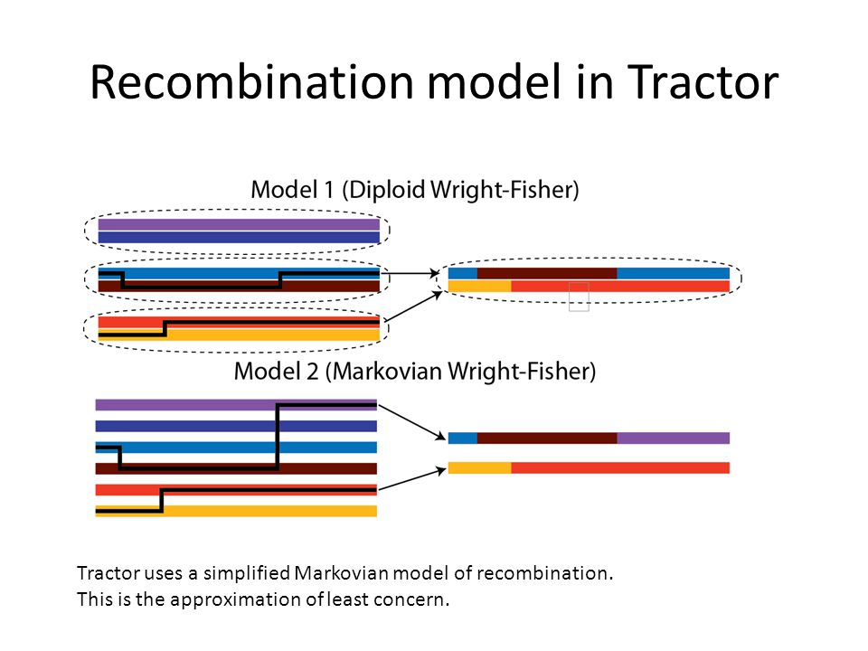 Recombination model in Tractor