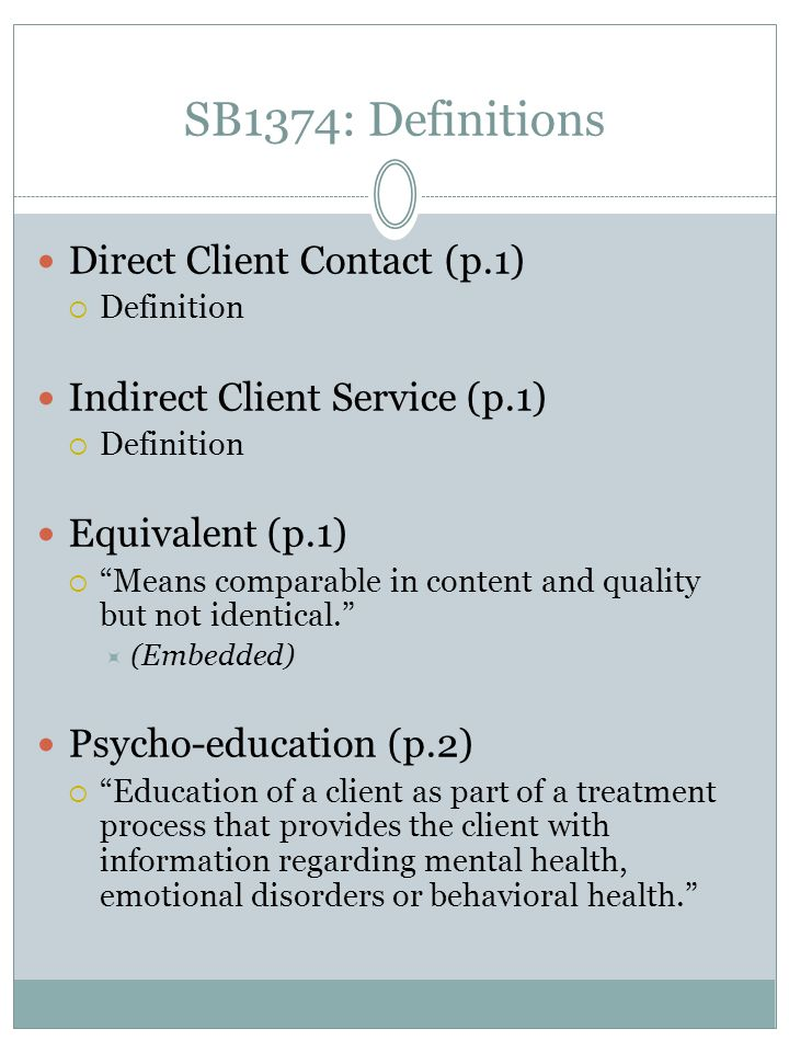 SB1374: Definitions Direct Client Contact (p.1)