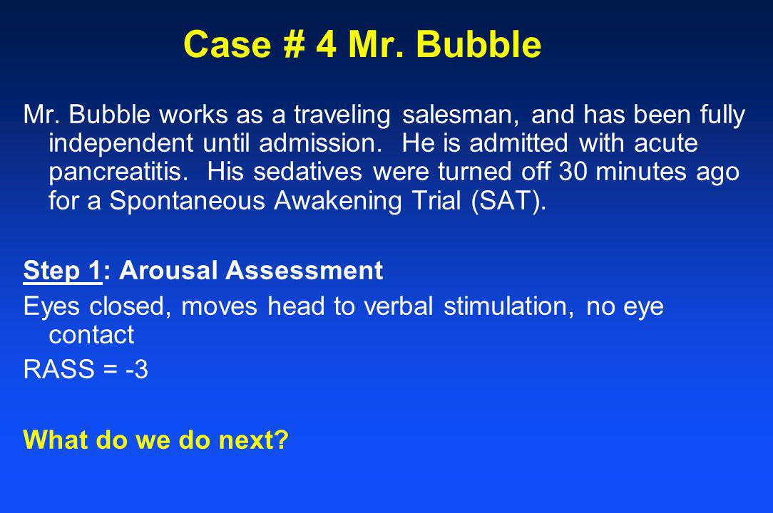 Case # 4 Mr. Bubble