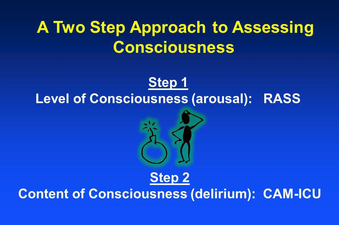 Level of Consciousness (arousal): RASS