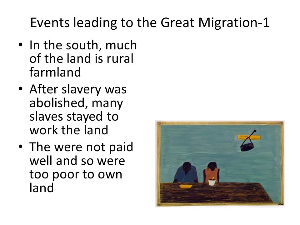 The great migration as a positive event in the united states