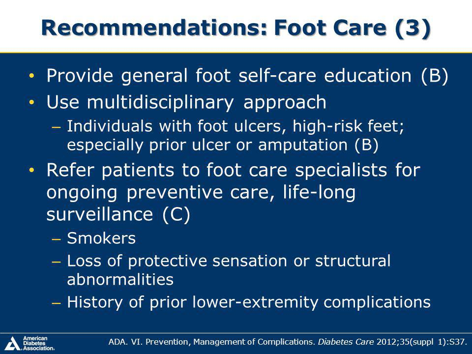 Recommendations: Foot Care (3)