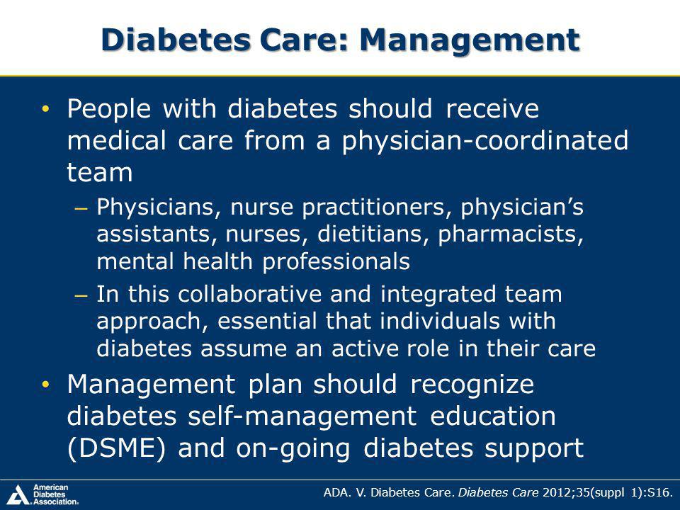 Diabetes Care: Management