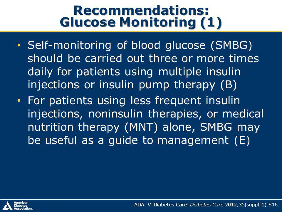 Recommendations: Glucose Monitoring (1)