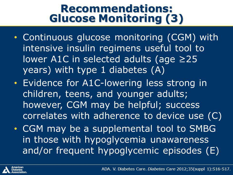 Recommendations: Glucose Monitoring (3)