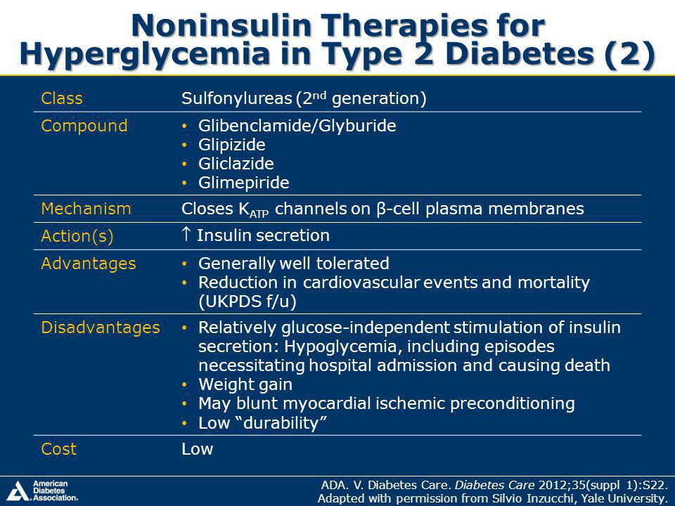 Noninsulin Therapies for Hyperglycemia in Type 2 Diabetes (2)