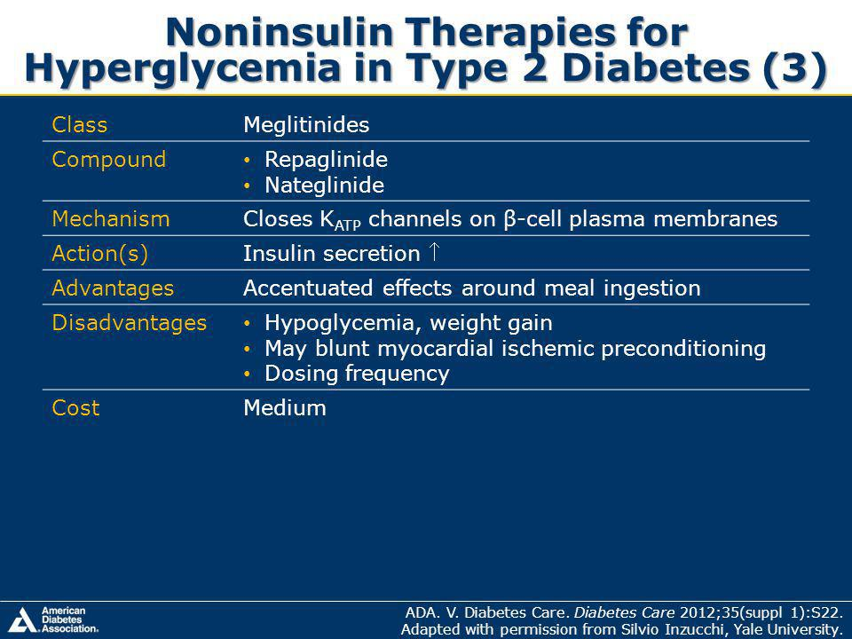 Noninsulin Therapies for Hyperglycemia in Type 2 Diabetes (3)