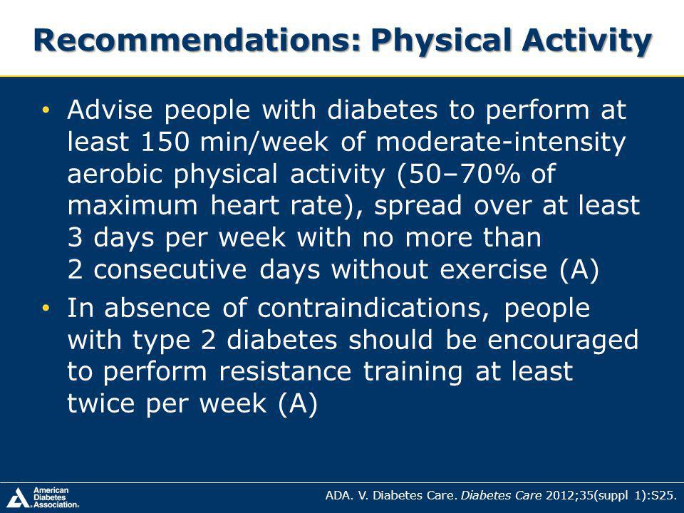 Recommendations: Physical Activity