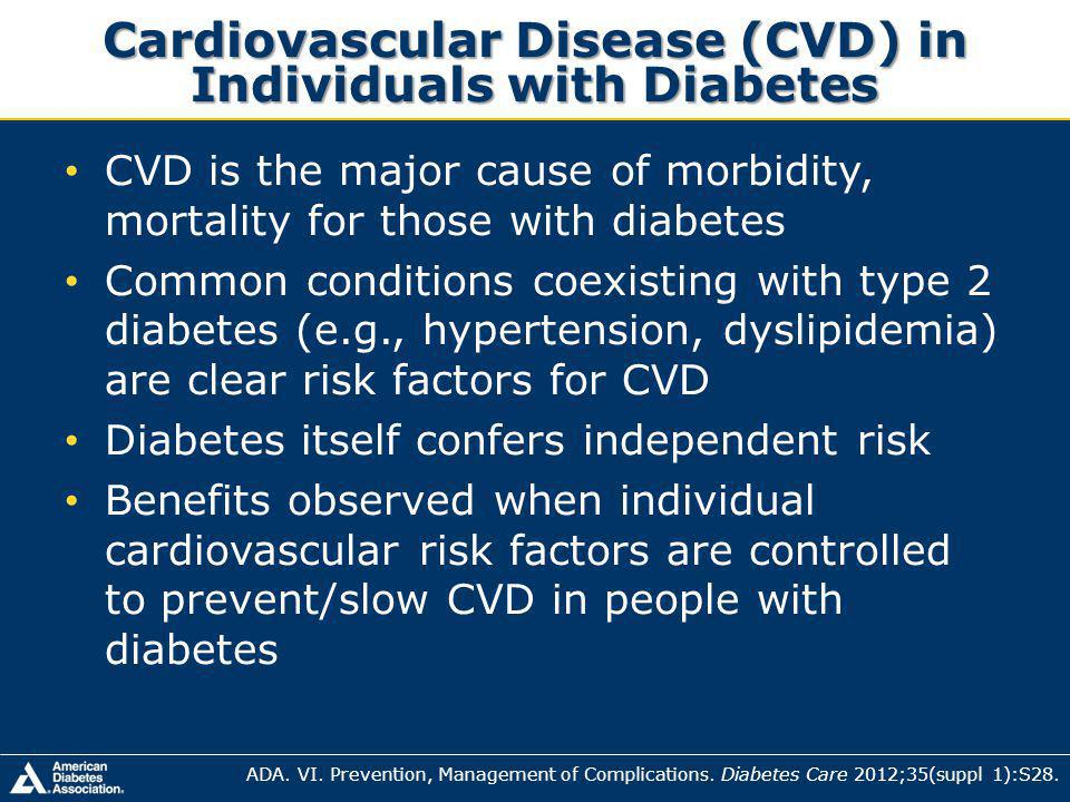 Cardiovascular Disease (CVD) in Individuals with Diabetes