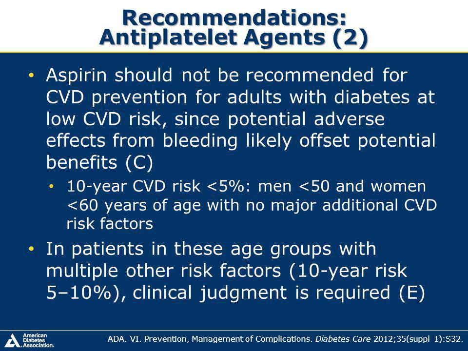 Recommendations: Antiplatelet Agents (2)