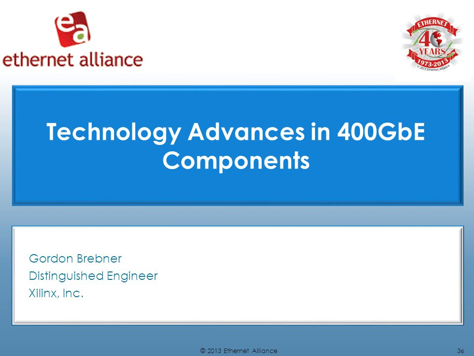 Technology Advances in 400GbE Components