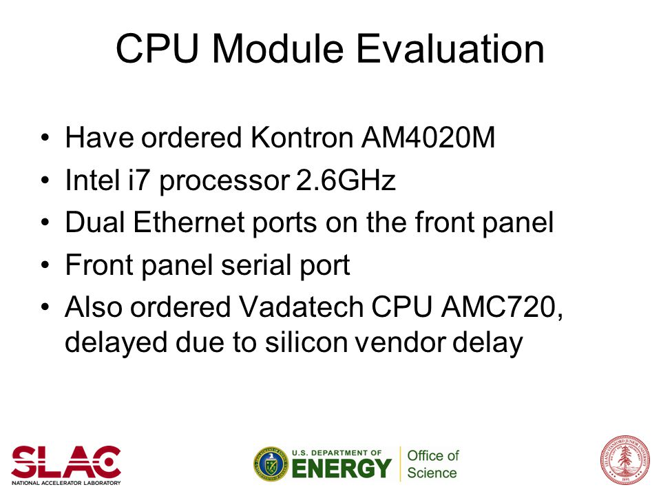 CPU Module Evaluation Have ordered Kontron AM4020M
