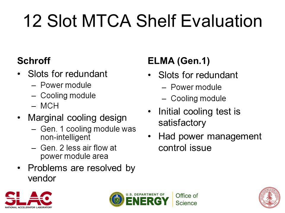 12 Slot MTCA Shelf Evaluation