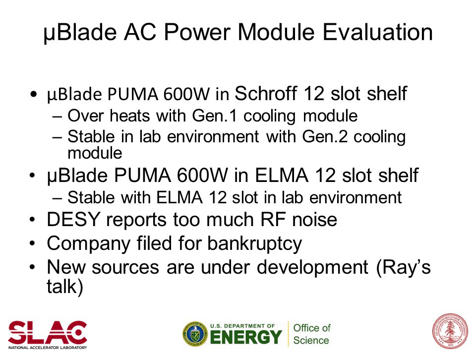μBlade AC Power Module Evaluation