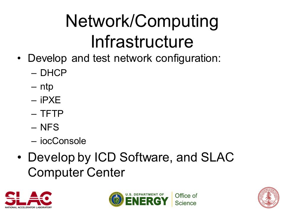 Network/Computing Infrastructure
