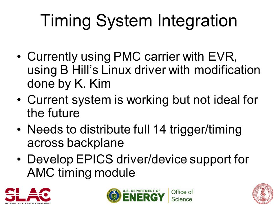Timing System Integration