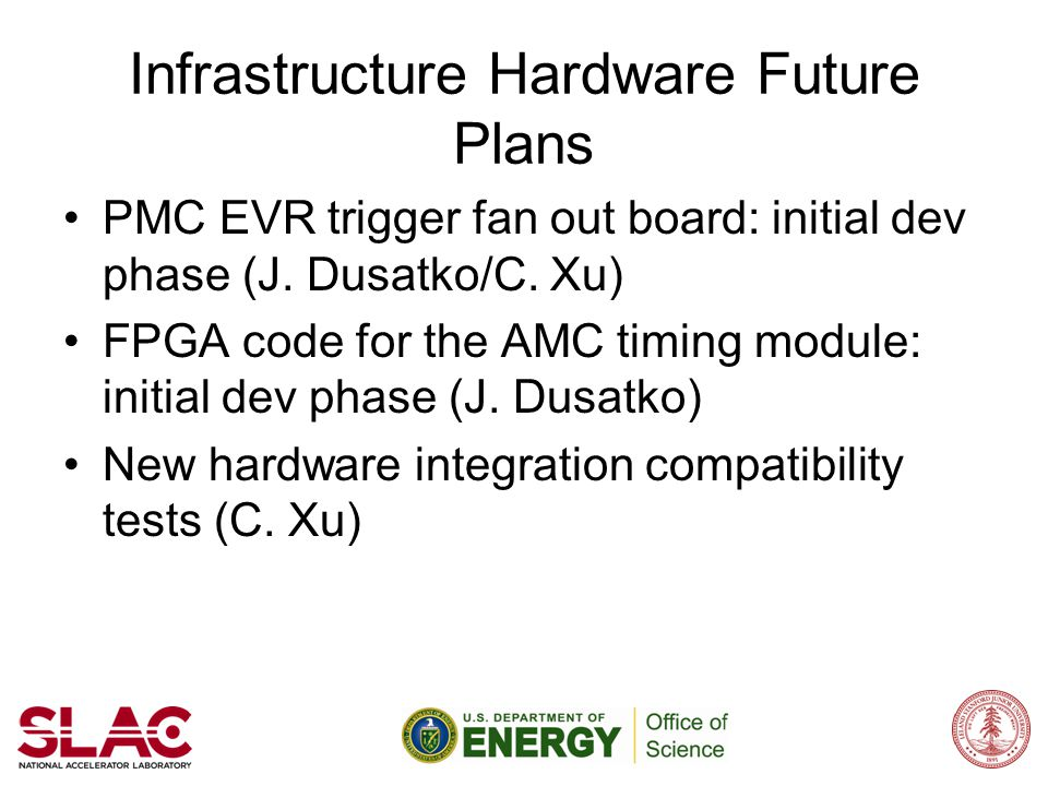 Infrastructure Hardware Future Plans