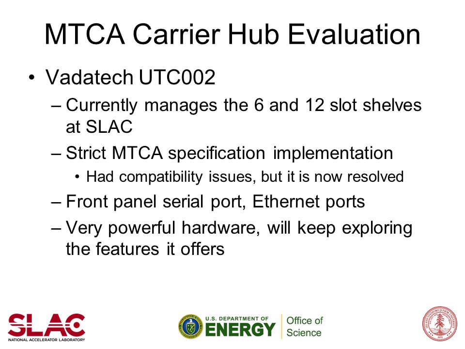 MTCA Carrier Hub Evaluation