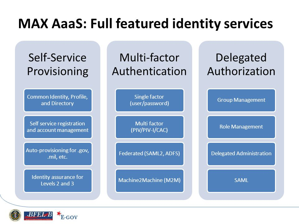 MAX AaaS: Full featured identity services