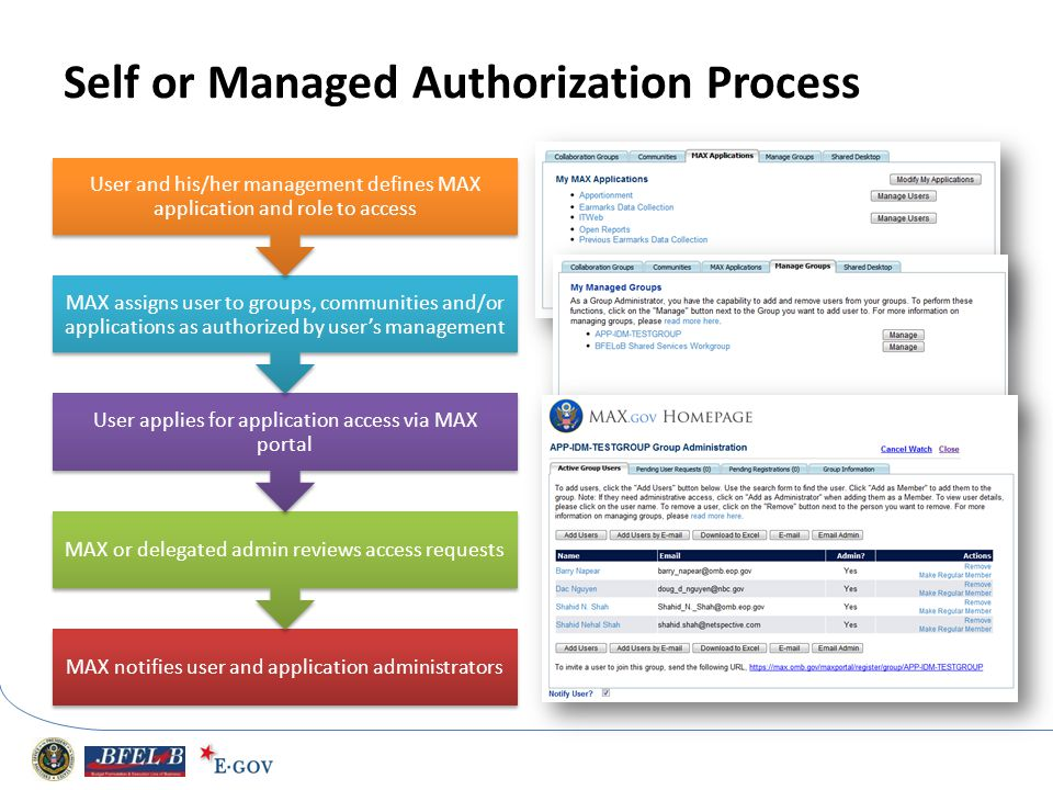 Self or Managed Authorization Process