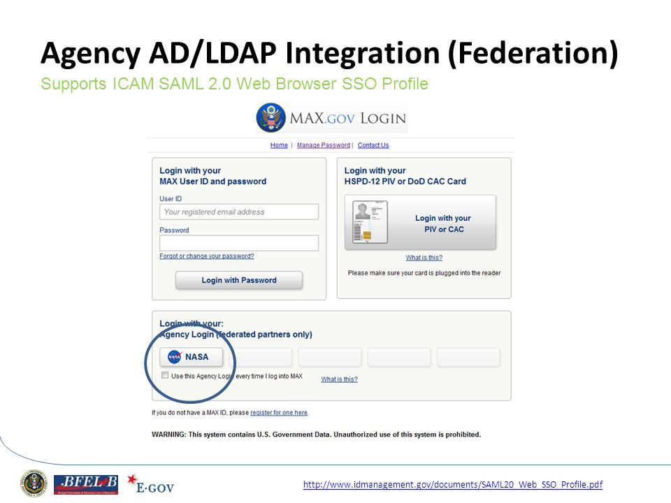 Agency AD/LDAP Integration (Federation)