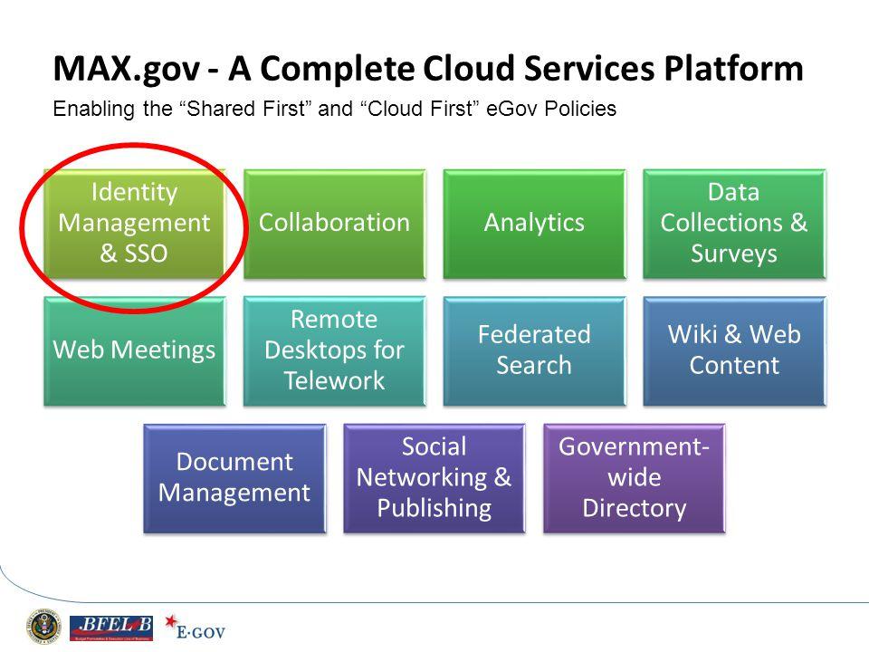 MAX.gov - A Complete Cloud Services Platform