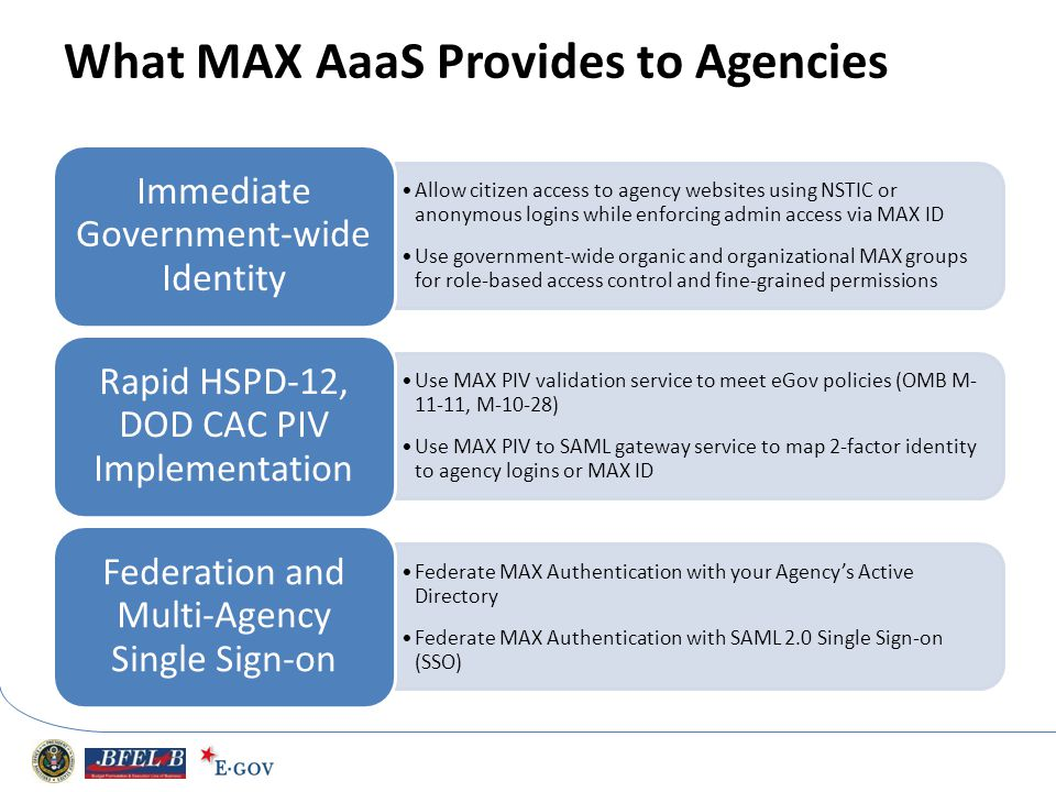 What MAX AaaS Provides to Agencies