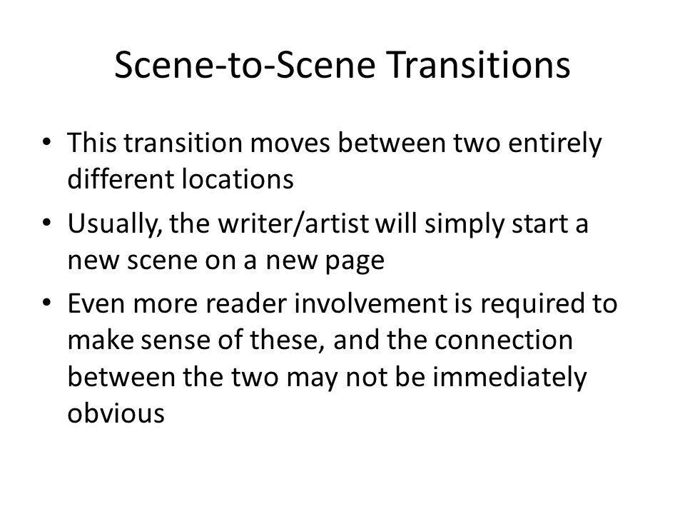 Scene-to-Scene Transitions
