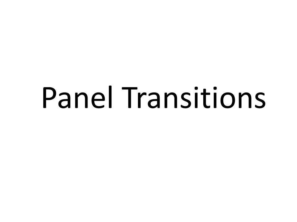 Panel Transitions