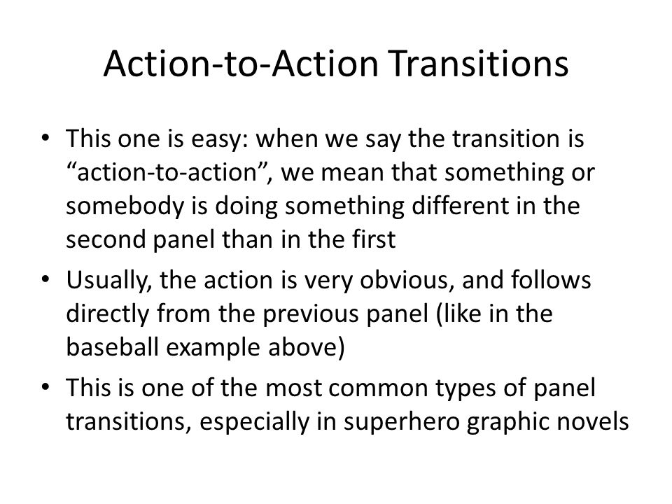Action-to-Action Transitions