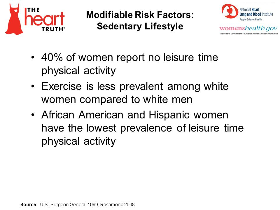 Modifiable Risk Factors: Sedentary Lifestyle