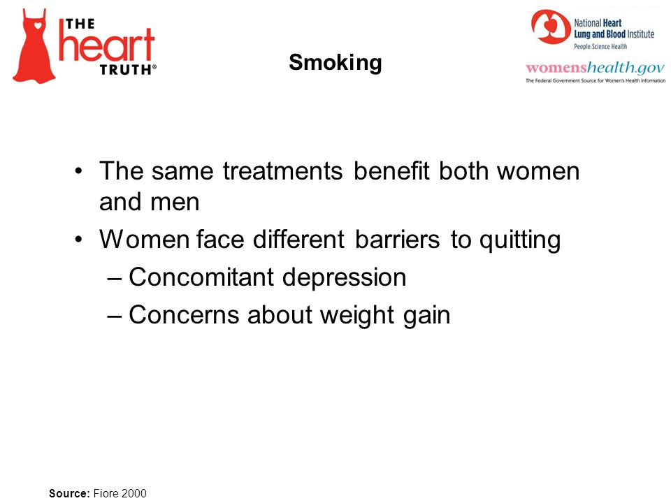The same treatments benefit both women and men