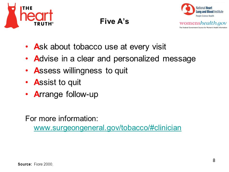 Ask about tobacco use at every visit