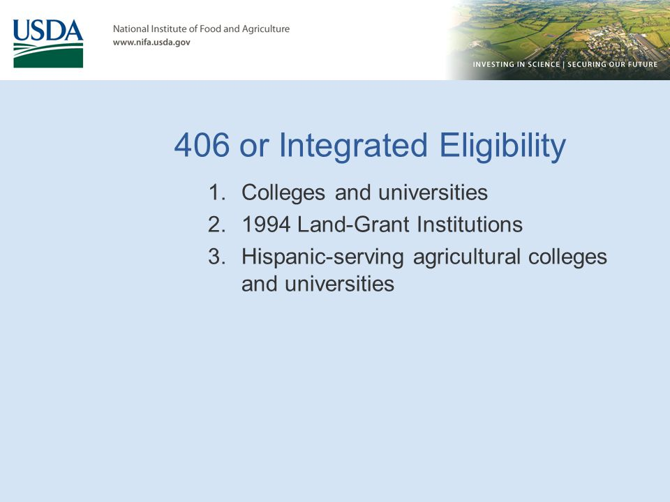 406 or Integrated Eligibility