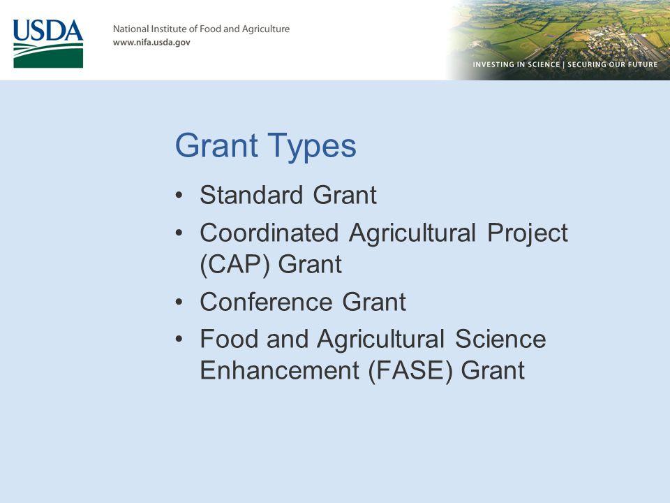 Grant Types Standard Grant