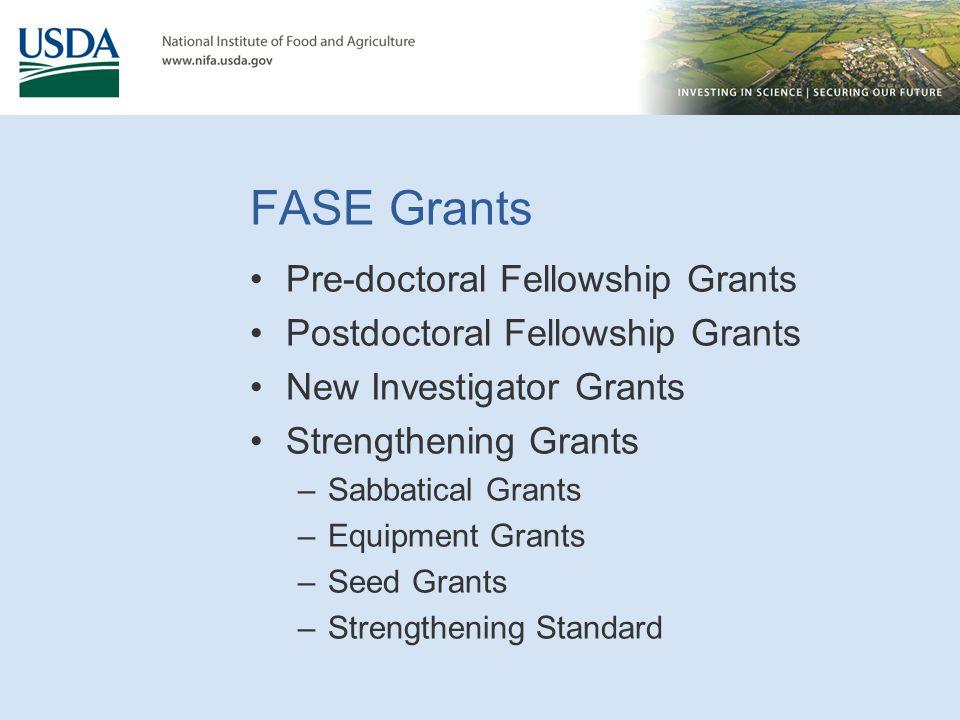 FASE Grants Pre-doctoral Fellowship Grants