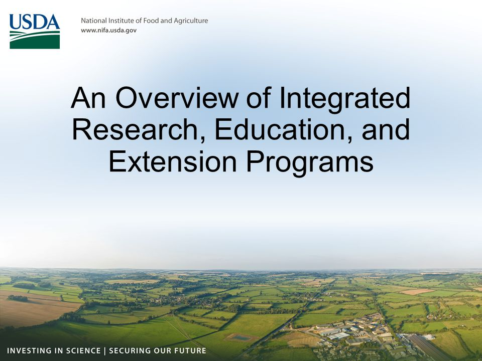An Overview of Integrated Research, Education, and Extension Programs