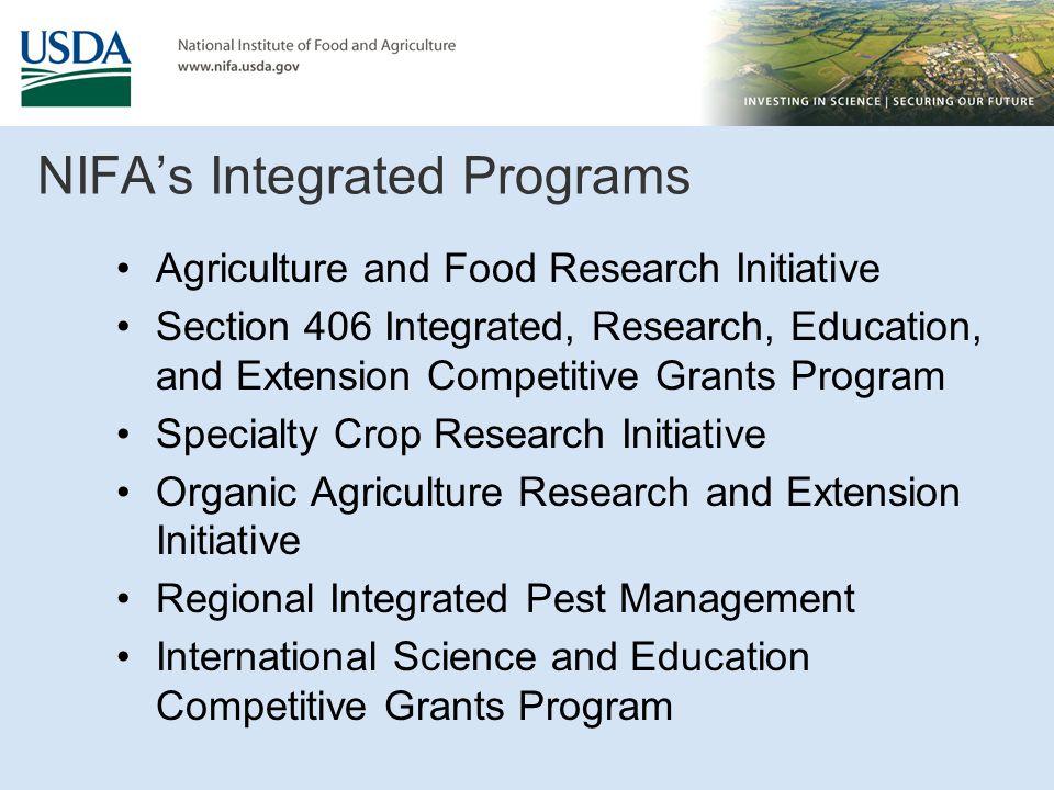 NIFA's Integrated Programs