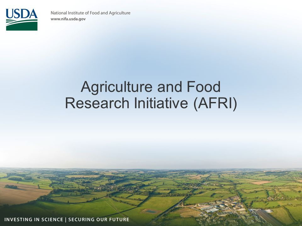 Agriculture and Food Research Initiative (AFRI)